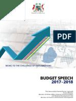 Budget speech 2017/2018
