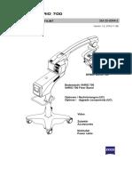 Service Manual Microscopio Quirurgico Karl Zeiss Modelo Opmi Vario 700