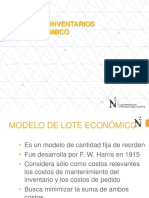 Inventarios - Modelo q y Lote Economico -Eoq