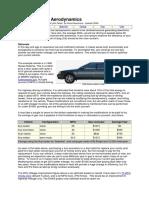 Passenger Car Aerodynamics