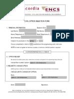 Civil Option Form