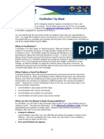 Plan Facilitation Tip Sheet