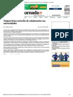 Tlalpan Firma Convenio de Colaboración Con Universidades — La Jornada