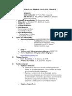 Plan de Trabajo Psicología Dinámica