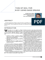 Consolidation of Soil for Foundation by Using Sand Drains[1]