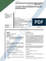 NBR 9605 - 1992 - Concreto - Reconstituição Do Traco de Concreto Fresco
