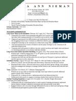 nieman resume 2017