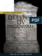 ulien l'Apostat - Défense Du Paganisme