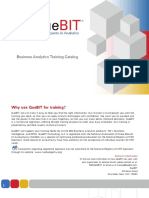 Business Analytics Training Catalog - QueBIT Trusted Experts in Business Analytics