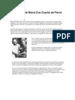 Biografia de Maria Eva Duarte de Peron