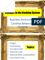 Changes in the Banking System