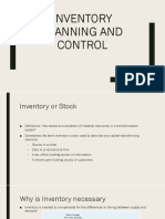 12. Inventory Planning and Control