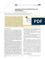 Homogeneous Hydrogenation of Fatty Acid Methyl Esters and Natural Oils Under Neat Conditions