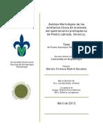 Análisis Morfológico de Los Artefactos líticos de molienda de Piedra labrada, Veracruz