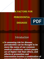 Risk Factors for Periodontal Diseases