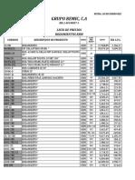 Lista de Precios Grupo Remic, c.a... 19-01-2017