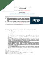 Assignment 2 - OOP