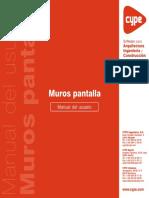 CYPE Muros Pantalla - Manual Del Usuario