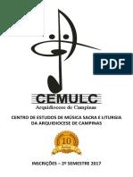 Folder CEMULC - 2° Semestre 2017