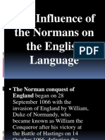 The Influence of the Normans on the English Language