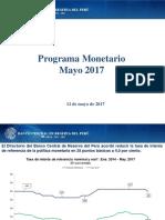 Programa Monetario Mayo 2017