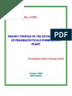 Pharmaceutical Formulating Plant