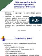 Organização Da Administração Pública e Descentralização Tributária