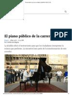 El Piano Público de La Carrera Séptima _ ELESPECTADOR