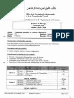 Examen de Passage 2014 Gestion Des Entreprises Tsge Synthese 2 Ofppt