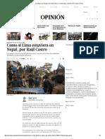 Como Si Lima Estuviera en Nepal, Por Raúl Castro _ Columnistas _ Opinión _ El Comercio Peru