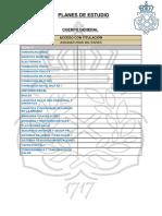 Planes de Estudio Cuerpo General Ct