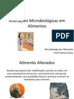 Microbiologia Dos Alimentos - Aula 04 - Alterações Microbiológicas Em Alimentos