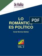 Lo Romántico Es Político. Vol II Coral Herrera Gomez