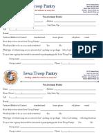 ITP Volunteer Form