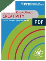P21 4Cs Research Brief Series - Creativity