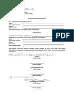 Contoh Format Persetujuan Tindakan Medik