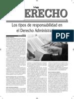 Los Tipos de Responsabilidad en El Derecho Administrativo - Autor José María Pacori Cari - Gaceta Jurídica Bolivia