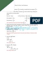 Soal UN Matematika SMP Tahun 2014 Paket 1 Dan Pembahasan
