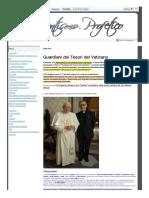Guardiani Tesoro Vaticano