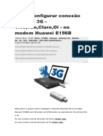 Como Configurar Conexão Internet 3G