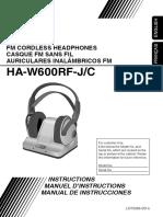 Jvc Fm Wireless Headphone