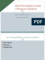 Menggunakan Perangkat Lunak Dalam Program Aplikasi (Pertemuan 2)