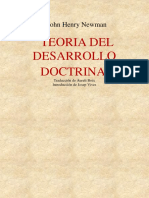 Cardenal John Henry Newman - Teoría Del Desarrollo Doctrinal