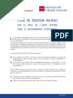 Rôle de l'Audit Interne Dans Le Gouvernement d'Entreprise (Mai 2009)