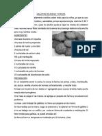 Galletas de Avena y Cocoa
