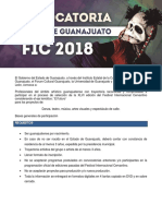 Convocatoria Artistas de Guanajuato FIC 2018