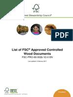 FSC-PRO-60-002b V2-0 en List of FSC Approved Controlled Wood Documents 2017-02-03
