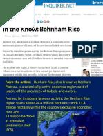 In the Know Benham Rise