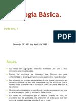 Geologia Gabinete Petrologia GE 241 AGRICOLA 2017 I Parte 1