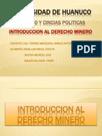 TEMA N° 1  INTRODUCCION AL DERECHO MINERO